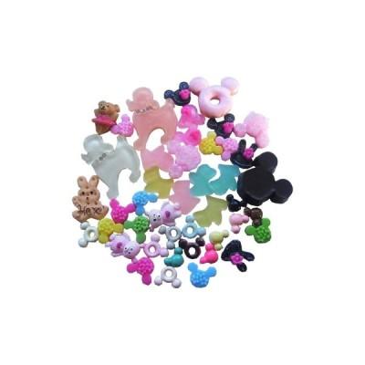 ミニ マウス 犬 うさぎ 熊 デコパーツセット 31種類44個入 SA-P769
