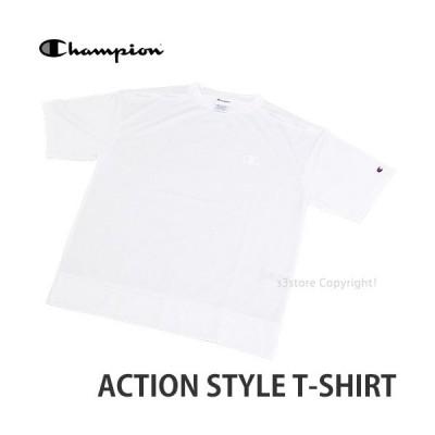 チャンピオン CHAMPION ACTION STYLE T-SHIRT トップス Tシャツ 半袖 服 シンプル メンズ 男性用 アパレル コーデ カラー:ホワイト