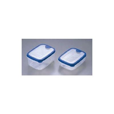 保存容器・プラスチック製 冷凍保存から解凍加熱まで! 100×144×H47 430mlエアキーパー・スナックケース A-033 (8-0227-0201)