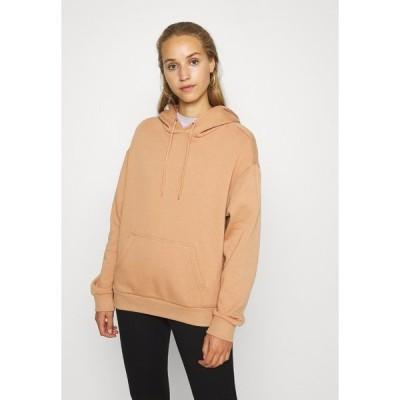 エブンアンドオッド パーカー・スウェットシャツ レディース アウター BASIC - Oversized hoodie with pocket - Hoodie - light tan