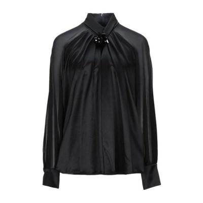 MAX MARA シルクシャツ&ブラウス  レディースファッション  トップス  シャツ、ブラウス  長袖 ブラック