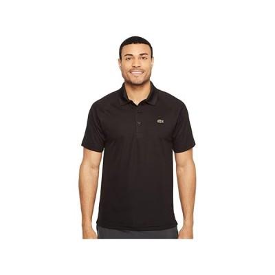 ラコステ Sport Short Sleeve Ultra Dry Raglan Sleeve Polo メンズ シャツ トップス Black