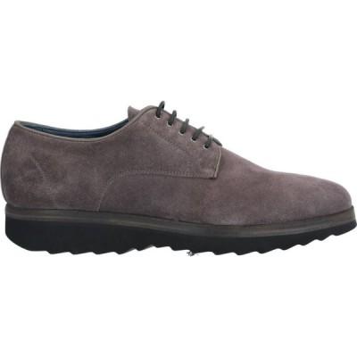 クリスティアーノ グアルティエリ CRISTIANO GUALTIERI メンズ シューズ・靴 laced shoes Lead