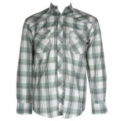 western ウェスタン ファッション アウター DBFL Liquid West Uomo Manica Lunga Western Scatto Anteriore Plaid Camicia
