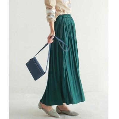 スカート Peビンテージサテン プリーツスカート