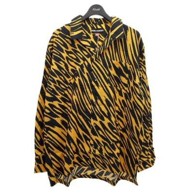 DOUBLE RAINBOUU 総柄オープンカラーシャツ イエロー×ブラック サイズ:L (明石店) 210524