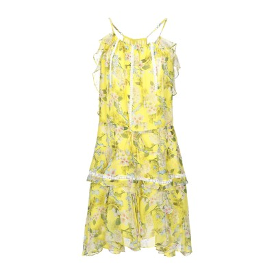 MARISSA WEBB ミニワンピース&ドレス イエロー M シルク 100% ミニワンピース&ドレス