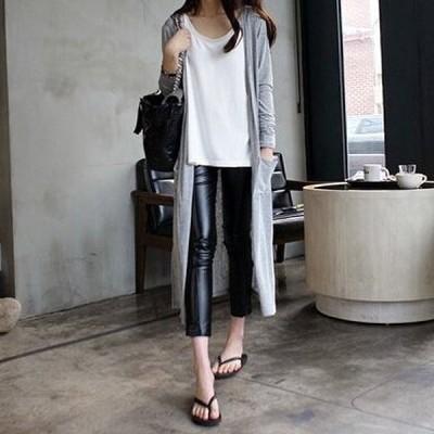 カーディガン薄手レディースロング上品大きいサイズ羽織りトップスアウター^v027^