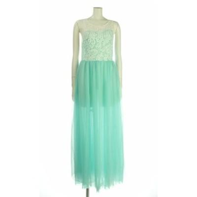 オッサエプ OASAP ドレス サイズM レディース 新品同様 グリーン系 ロングドレス 表示なし【中古】20210205