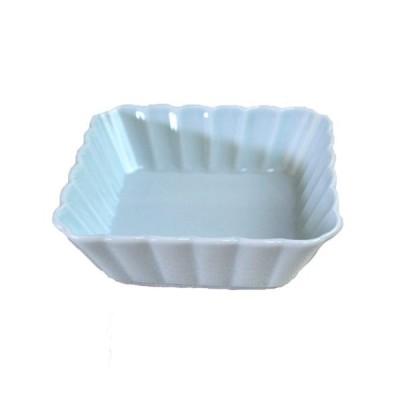 小鉢 青白 浅角皿(11.3cm)