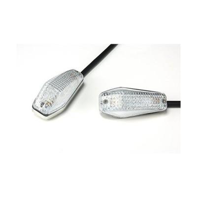 バイクパーツセンター LEDウインカー 汎用 左右セット クリア 貼リ付ケタイプ 313804