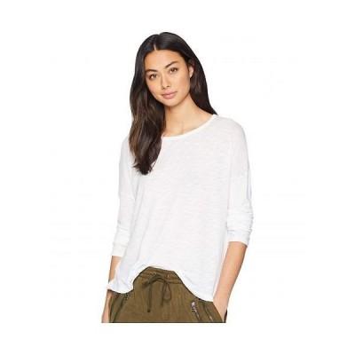 Splendid スプレンデッド レディース 女性用 ファッション Tシャツ Zander Long Sleeve Cotton Modal Slub Easy Crew Tee - White