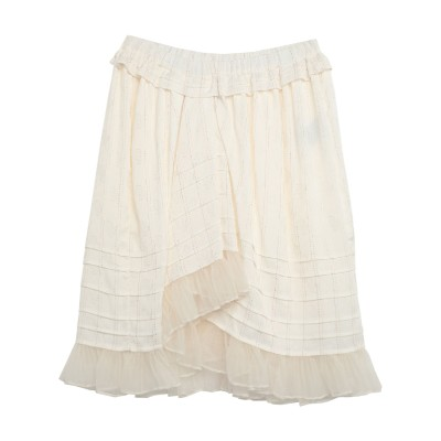 イザベル マラン ISABEL MARANT ひざ丈スカート ホワイト 34 レーヨン 61% / シルク 38% / Lurex® 1% ひざ丈ス