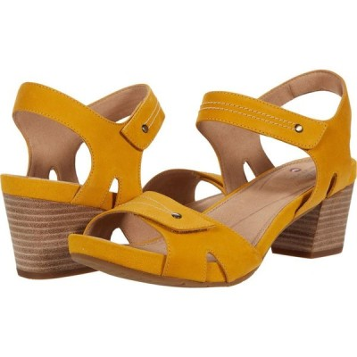 クラークス Clarks レディース サンダル・ミュール シューズ・靴 Un Palma Vibe Yellow Leather