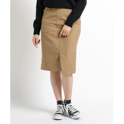 JET(ジェット) 【洗える】モールスキンストレッチタイトスカート