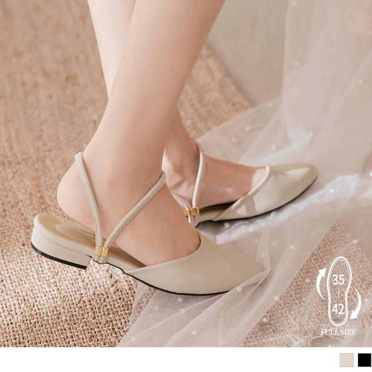 台灣製兩穿尖頭涼鞋/穆勒鞋