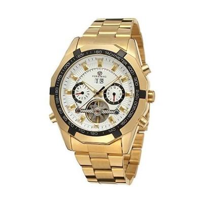 Forsining ステンレススチール トゥールビヨン ルミナス 自動巻き メンズ 機械式腕時計 120502