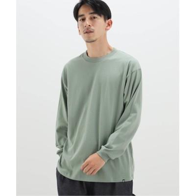 メンズ ベーセーストック 【newhattan/ニューハッタン】 basic ロングスリーブTシャツ グリーン M