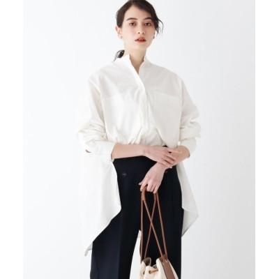 【オペークドットクリップ】 OPAQUE.CLIP×AMARC コットンブロードシャツ レディース ホワイト 36(S) OPAQUE.CLIP
