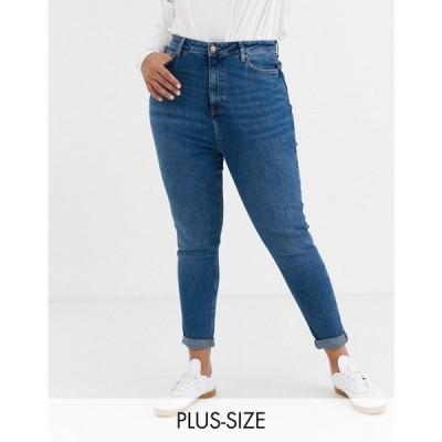 ニュールック New Look Plus レディース ジーンズ・デニム ボトムス・パンツ New Look Curve mom jean in blue ブルー