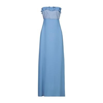 アレッサンドロデラクア ALESSANDRO DELL'ACQUA ロングワンピース&ドレス ブルー 44 ポリエステル 100% ロングワンピース