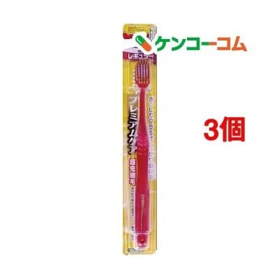 プレミアムケアハブラシ6列レギュラー やわらかめ ( 1本入*3コセット )/ プレミアムケアハブラシ