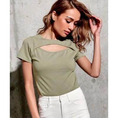 tシャツ Tシャツ フロントオープントップス