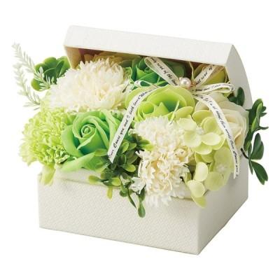 【トレジャーボックス(S) グリーン】ソープフラワー シャボンフラワー ギフト バースデー ウェディング 贈り物 プレゼント ボックス