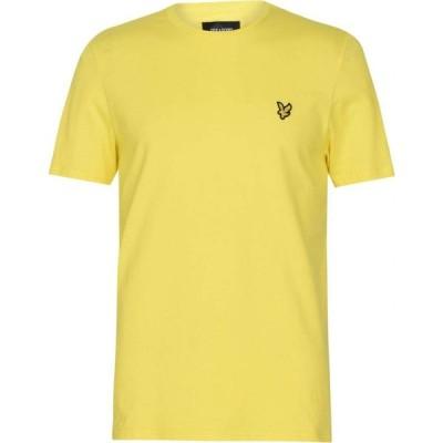ライル アンド スコット Lyle and Scott メンズ Tシャツ ロゴTシャツ トップス Basic Logo T Shirt Buttercup Z