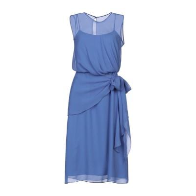マックスマーラ MAX MARA 7分丈ワンピース・ドレス アジュールブルー 38 シルク 100% 7分丈ワンピース・ドレス