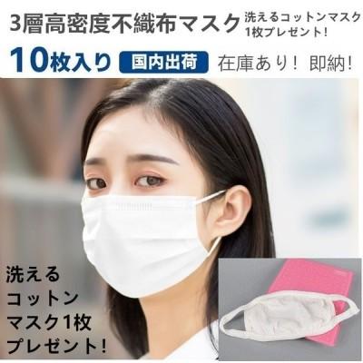 マスク 10枚入り 在庫あり 即納 当日発送 国内発送 簡易包装 不織布マスク コットンマスクプレゼント 花粉対策 三層構造