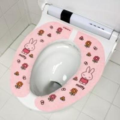 miffyミッフィー フラワーズ 吸着便座シート ピンク 節電 アンモニア 消臭 日本製 洗える かわいい 置くだけ キャラクター