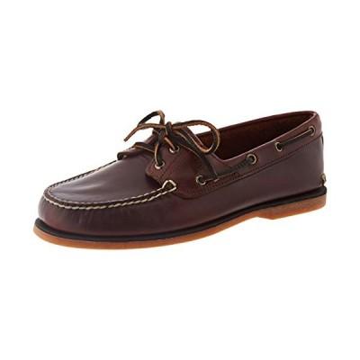 Timberland Men's Classic 2-Eye Boat Shoe, Rootbeer/Brown, 9 M【並行輸入品】