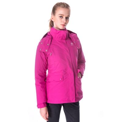 【hilltop山頂鳥】女款GoreTex兩件式防水羽絨短大衣F22FU9紫