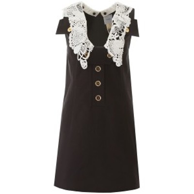 PATOU/パトゥ Black Patou safari mini dress with crochet レディース 春夏2020 DR0030027902B ik