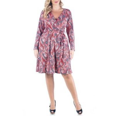 24セブンコンフォート レディース ワンピース トップス Women's Plus Size Belted Dress Multi