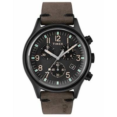 腕時計 タイメックス メンズ Timex Mens Chronograph Quartz Watch with Leather Strap TW2R96500