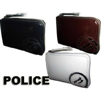 ポリス POLICE メンズ ATSUSHI サングラス愛用 ブランド メンズ スムース牛革&パイソン型押 蛇 ヘビ 小銭入れ ブラック ブラウン ホワイト 0515 tor03