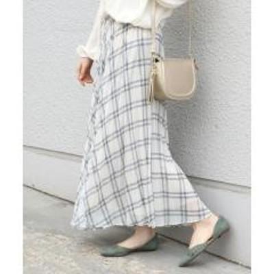 シップススプリングチェックプリーツスカート◇【お取り寄せ商品】