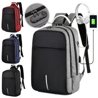 リュック メンズ ビジネスバッグ リュックサック ノートパソコン 大容量 軽量 ビジネスリュック PC 通勤 出張 A4対応 USB充電口付き