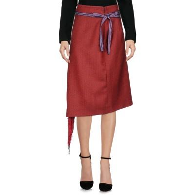 ミアハタミ MIAHATAMI ひざ丈スカート レッド 40 バージンウール 100% ひざ丈スカート