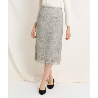 Couture brooch / レースタイトスカート WOMEN スカート > スカート