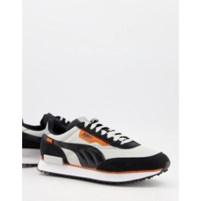 プーマ メンズ スニーカー シューズ Puma Future Rider sneakers in black and silver Puma black/silver