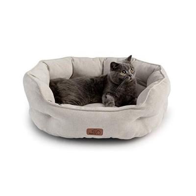 Bedsure 猫 ベッド ベージュ ペットベッド 犬 ペットソファー 洗濯 丸洗い ペットクッション 猫用 犬用 マット 夏