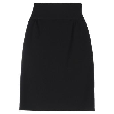ディースクエアード DSQUARED2 ひざ丈スカート ブラック 38 ポリエーテル 66% / レーヨン 30% / ポリウレタン 4% ひざ丈ス