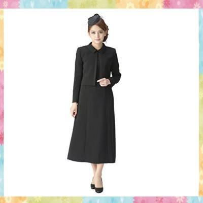 (マーガレット)m453 ブラックフォーマル レディース 喪服 アンサンブル ロング丈 ワンピース 礼服 冠婚葬祭
