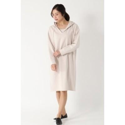 イッカ レディース(ikka)/ミニ裏毛V開きワンピース