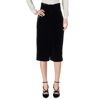 ドルチェ & ガッバーナ DOLCE & GABBANA 7分丈スカート ブラック 38 レーヨン 74% / シルク 26% 7分丈スカート