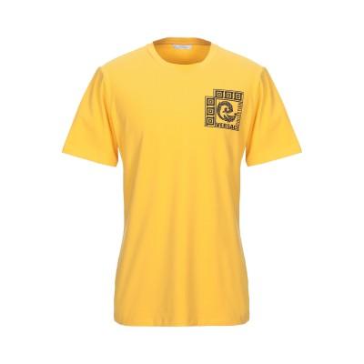 VERSACE COLLECTION T シャツ イエロー S コットン 90% / ポリウレタン 10% T シャツ