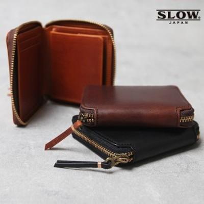 スロウ SLOW 財布 Herbie mini round wallet ウォレット ハービー ミニラウンドウォレット 短財布 ラウンドジップ 2つ折り財布 日本製 本